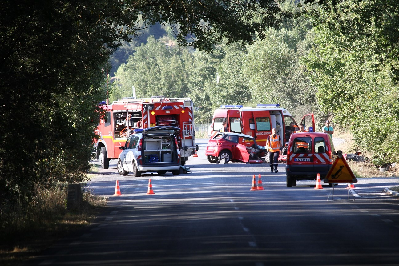Accident de la route à Grimaud