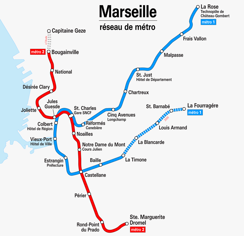 Ligne 2 Du Métro De Marseille | Subway Application