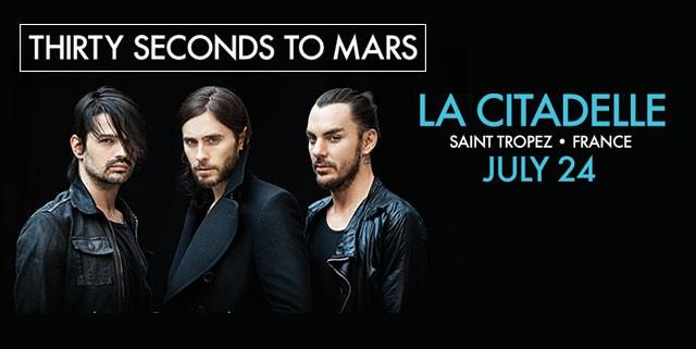 30 Seconds to Mars Saint-Tropez
