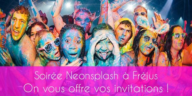 Neonsplash Fréjus invitations