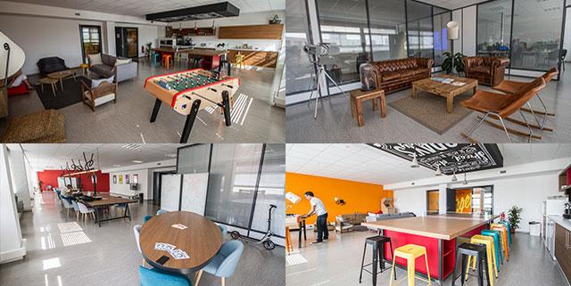 Les bureaux de google ou apple non un espace de travail ouvert