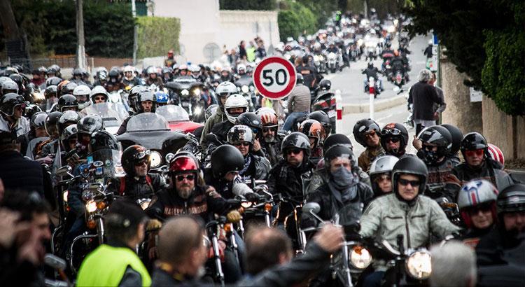PHOTOS : Revivez en images la grande parade Harley-Davidson dans le Golfe de Saint-Tropez