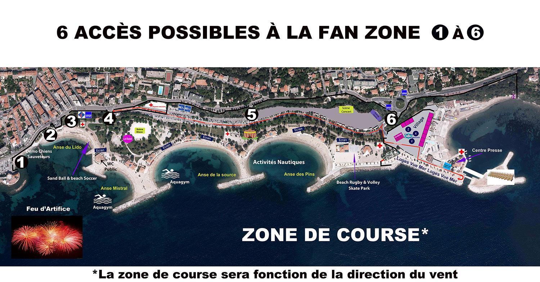 Fanzone America's Cup Toulon accès piétons