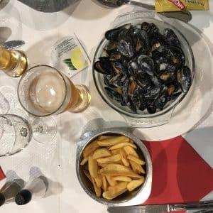 Moules-frites-bière à Merlimont Nord-Pas-de-Calais
