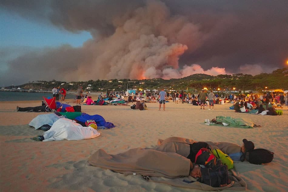 Incendies Var - Photo Olivier Hertel - Twitter @OlivierHertel