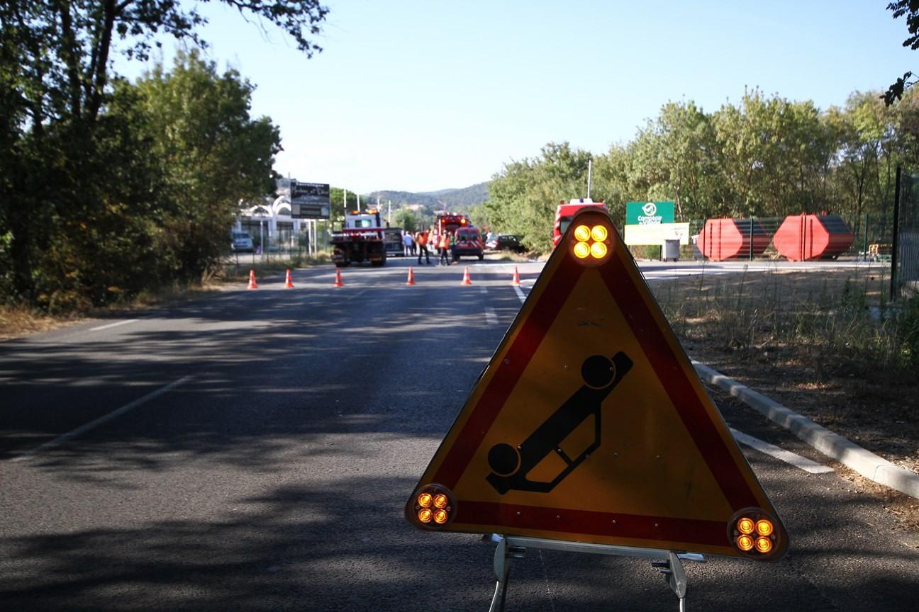 Accident de la route à Grimaud