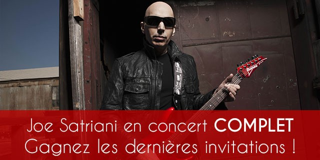 Joe Satriani concert Six-Fours invitations