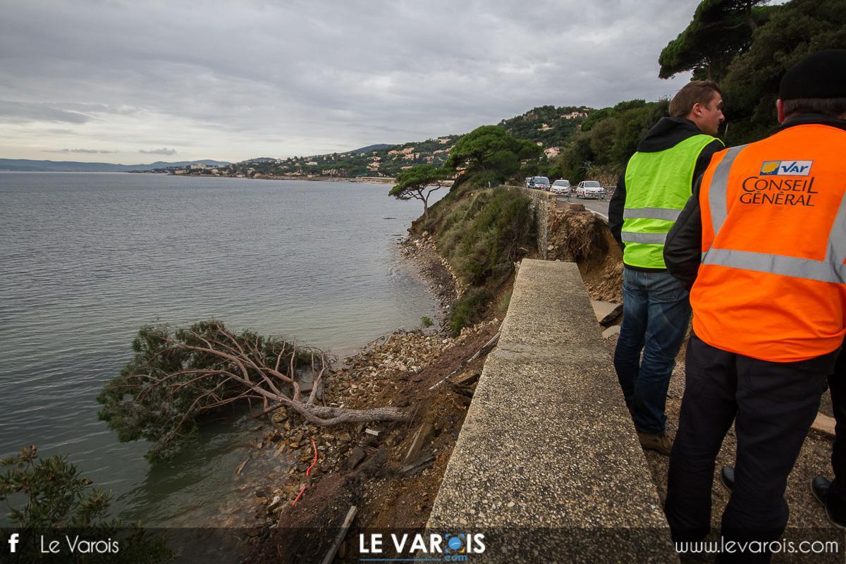 RD559 Sainte-Maxime éboulement