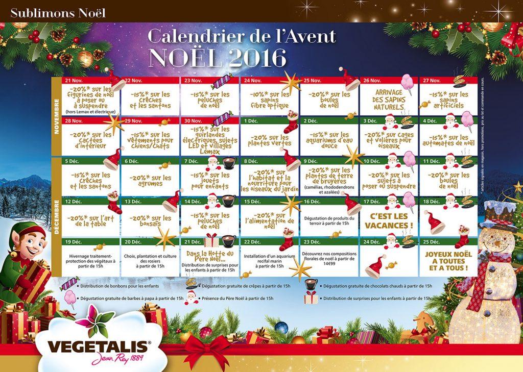 Agenda animations Vegetalis Noël 2016