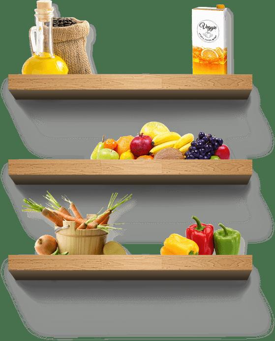 Etagères fruits et légumes